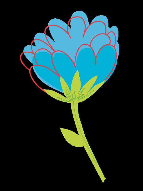 Free Blue Flower Vector
