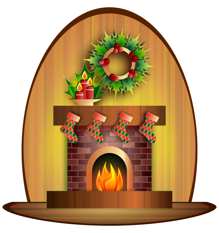 Free Christmas Fireplace