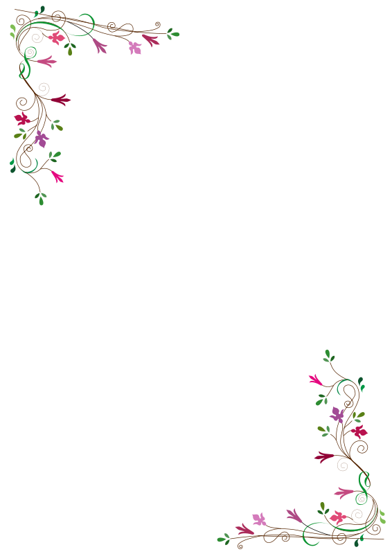 Free Floral frame