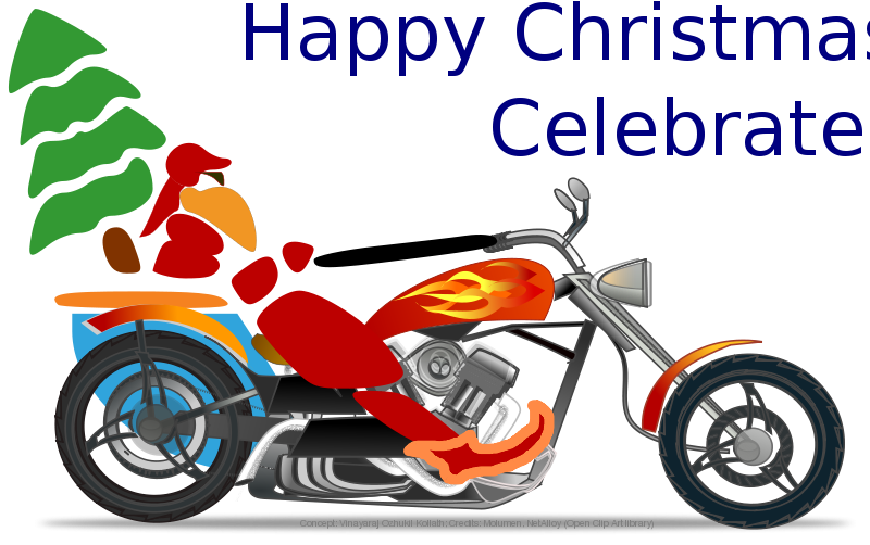 Free Santa on chopper