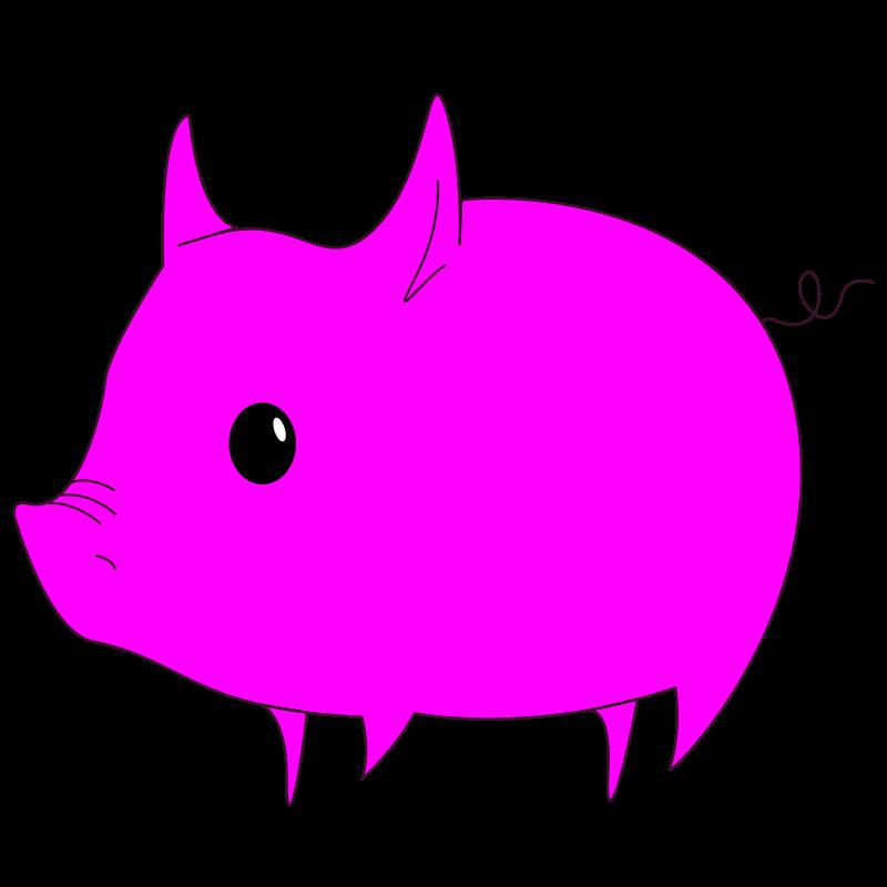 Free Magenta Pig