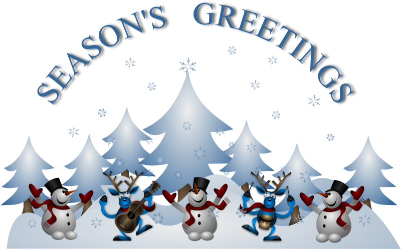 Free Seasons Greetings Card Front