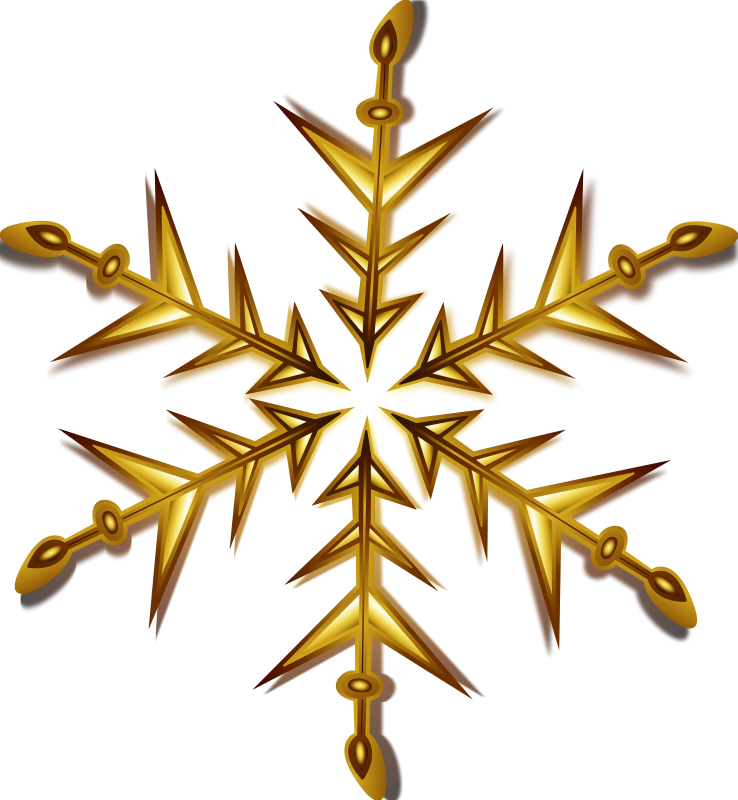 Free Clipart: Snowflake 1 Remix | Merlin2525