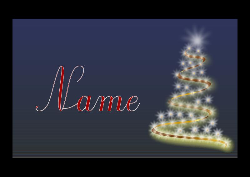 Free Weihnachtskarte mit Name als Volage