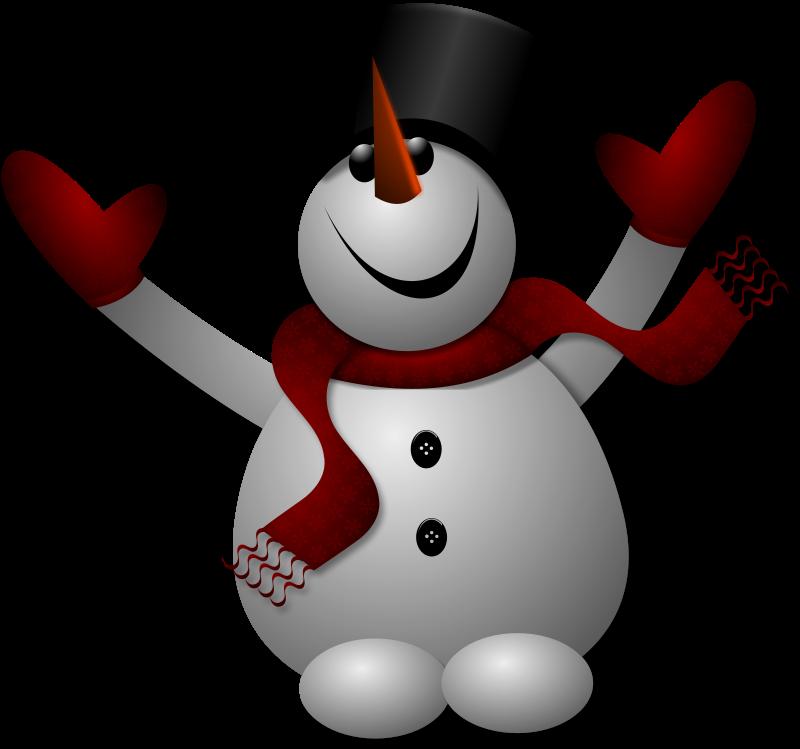 Free Happy Snowman 1