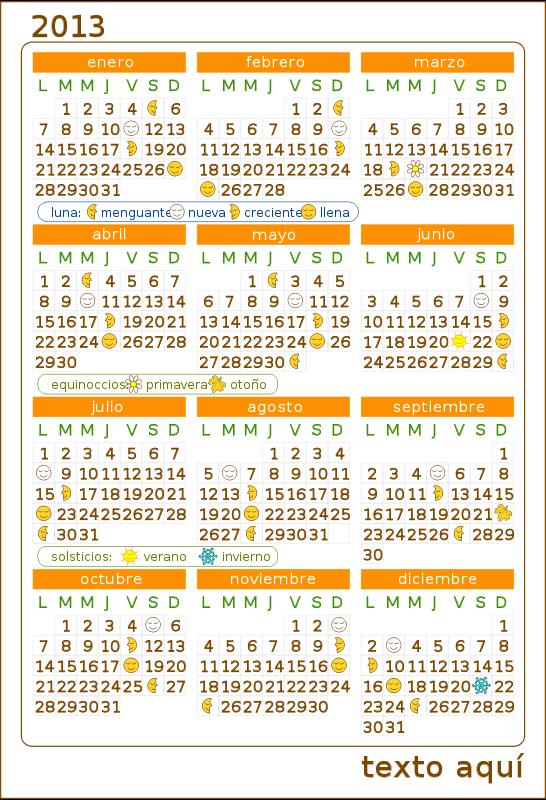 Free Calendario 2013 Calendar v.2
