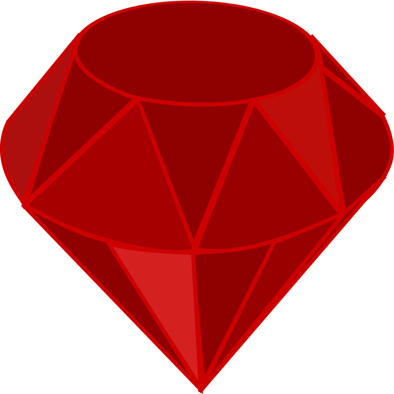 Free Red ruby, no transparency, no shading, square area