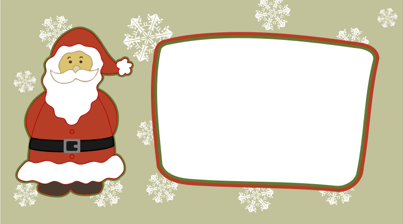 Free Clipart: Christmas Card 01 | scigola