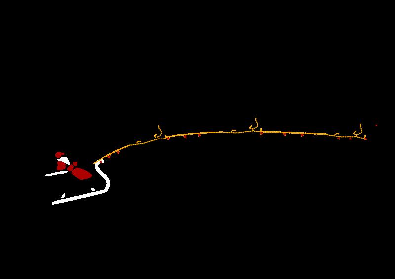 Free Santa with flying deers