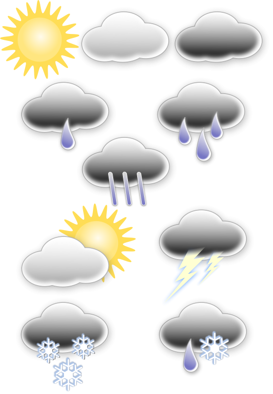 Free Clipart: Weather symbols | opk