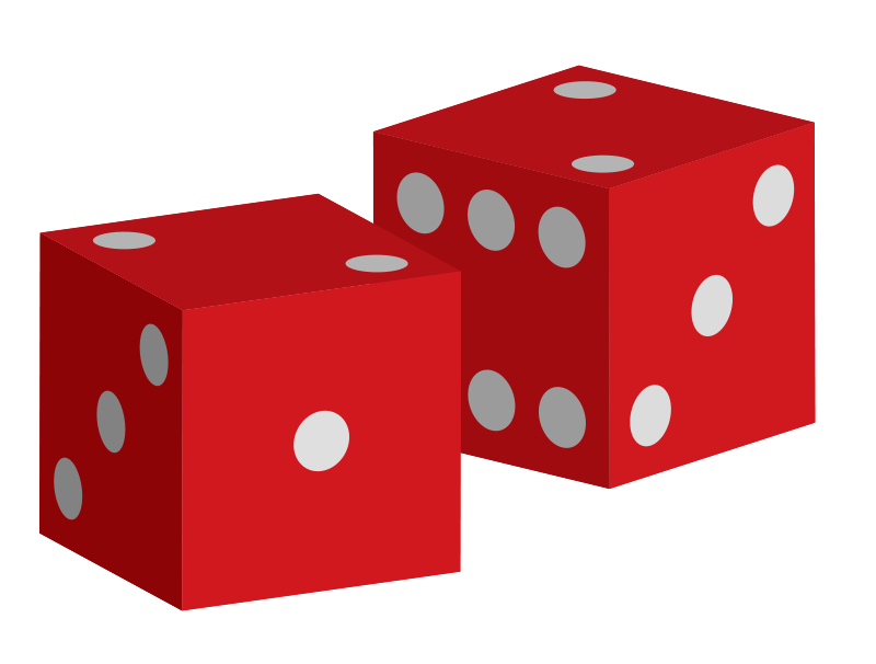 Free Two red dice