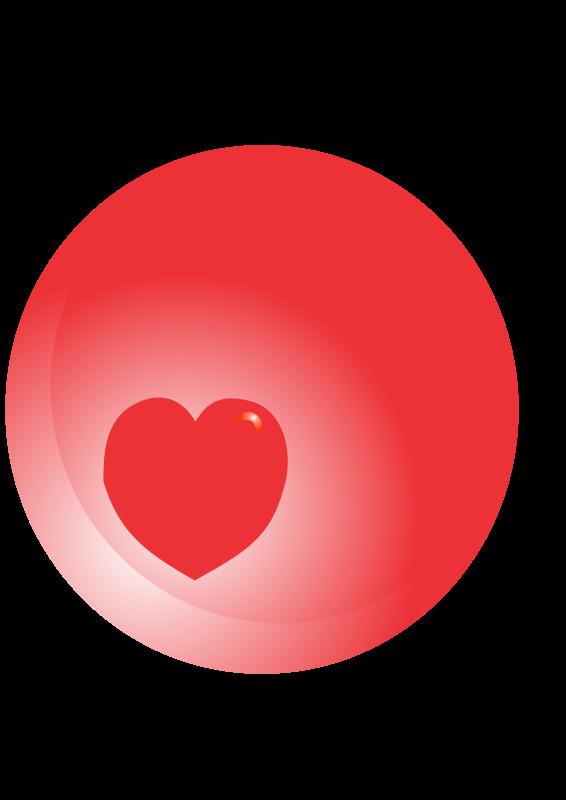 Free corazon en esfera