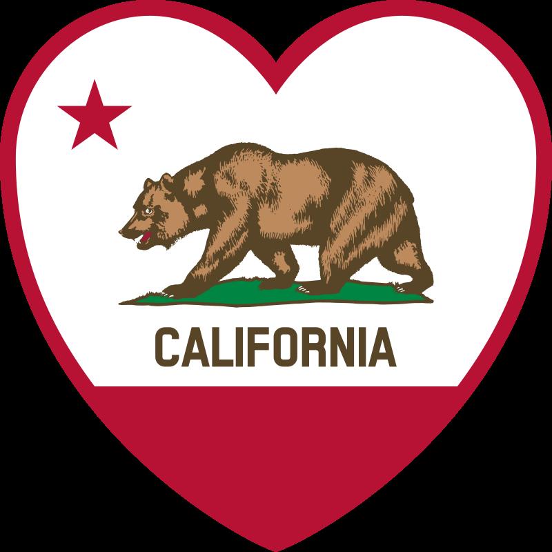 Free California Flag Heart