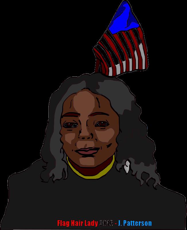 Free Flaghair Lady 2016