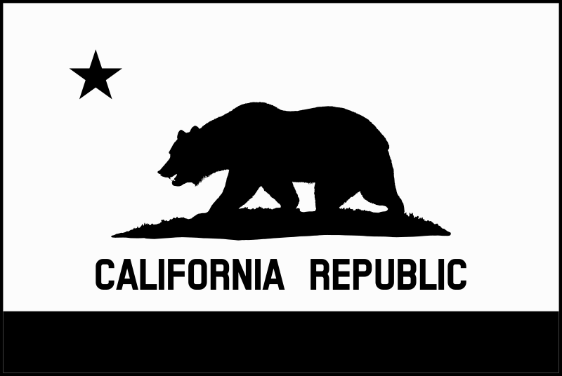 Free Flag of California (thick border, monochrome, solid)