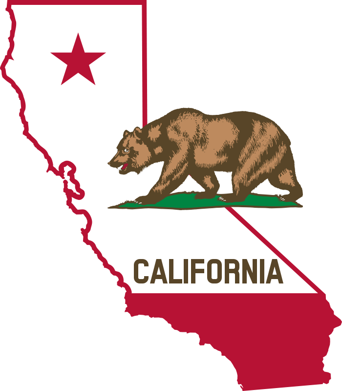 Free California - Outline and Flag