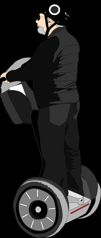 Free Clipart: Man on segway | Dzeni