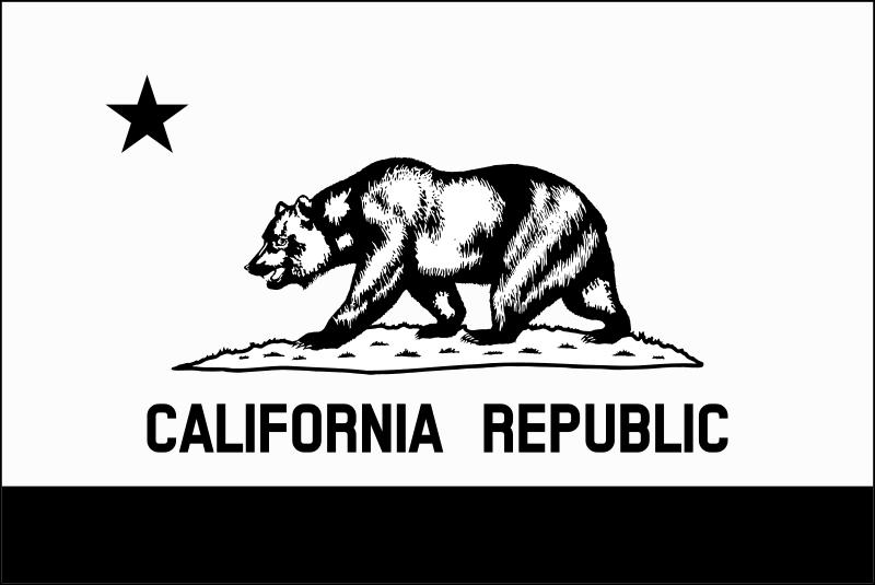 Free Clipart Flag Of California Thin Border Monochrome