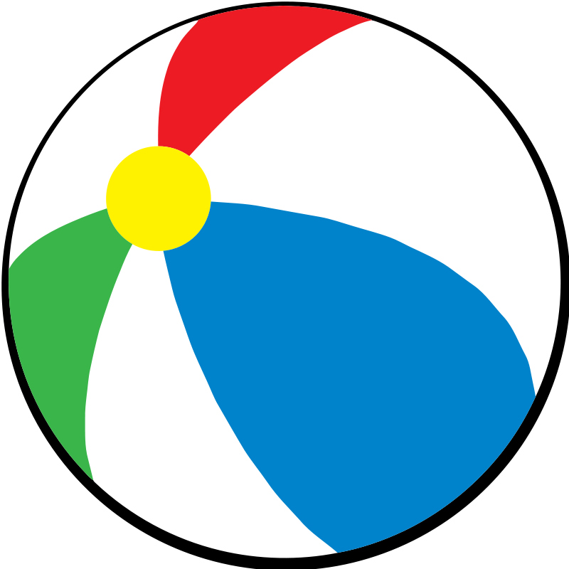 Free Simple Beach Ball