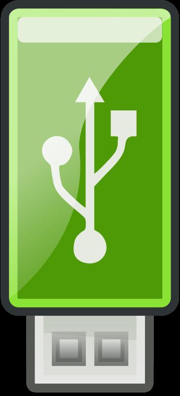 Free Clipart: USB Green - Tango style | flooredmusic