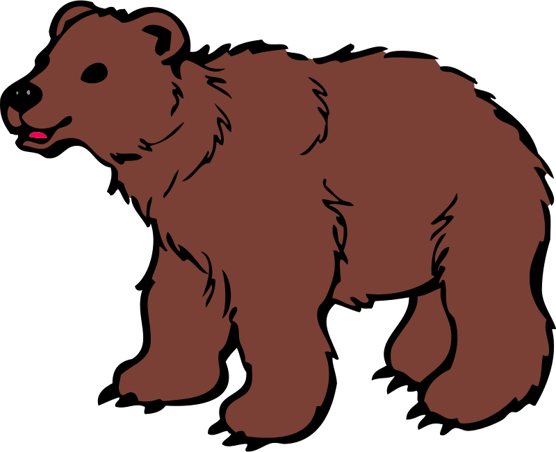 Free Clipart: Young Brown Bear | qubodup