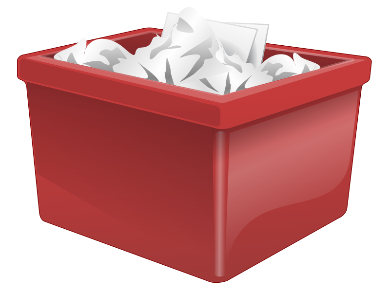 Free Red Plastic Box Filled With Paper