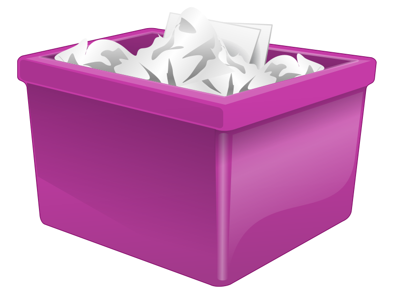 Free Purple Plastic Box Filled With Paper