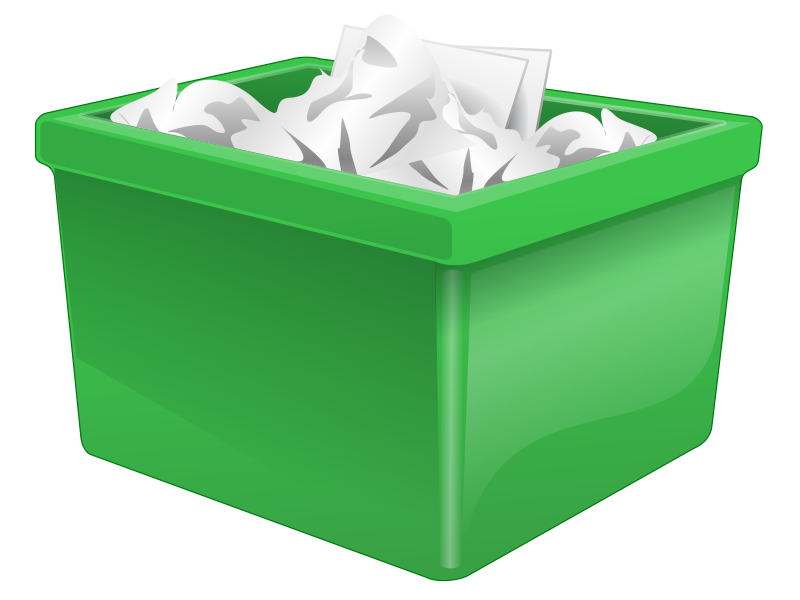 Free Green Plastic Box Filled With Paper