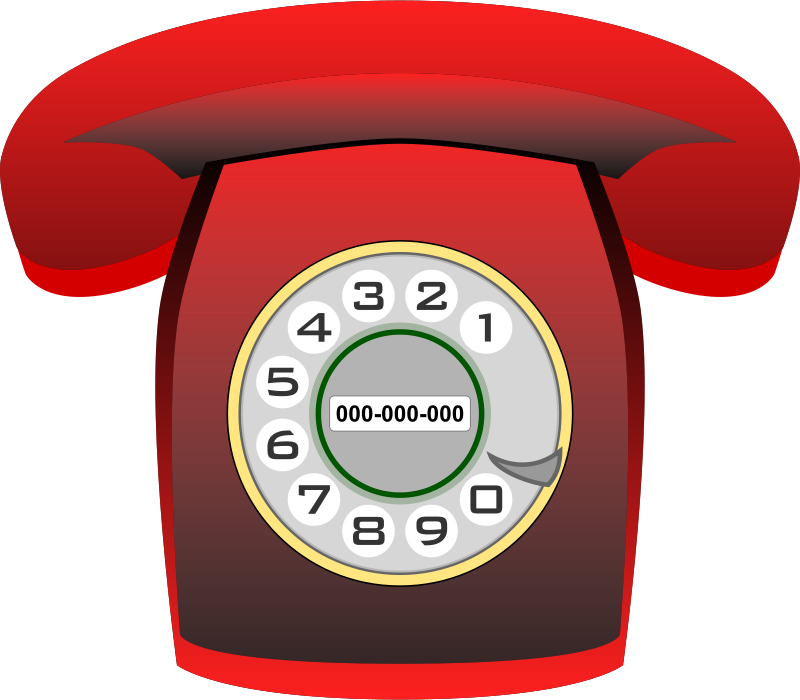 Free Teléfono Heraldo rojo (red classic phone)