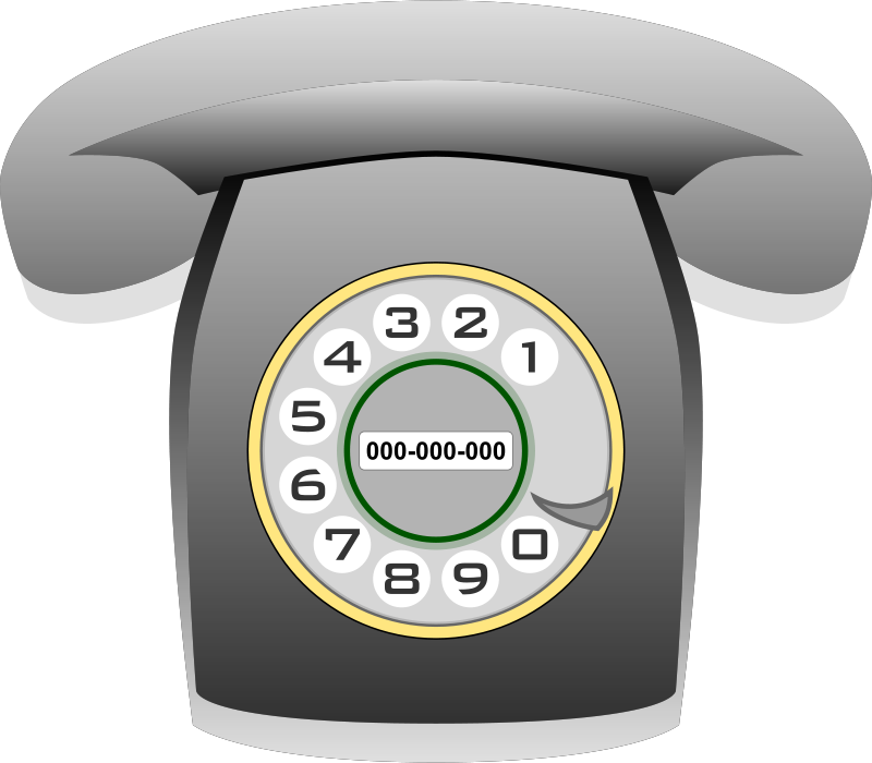 Free Teléfono Heraldo gris (grey classic phone)