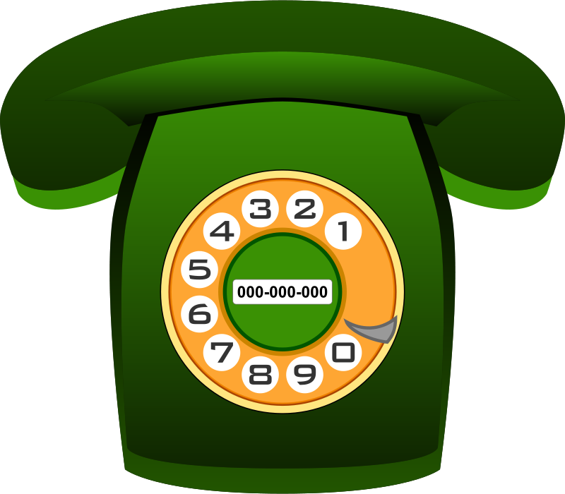 Free Teléfono Heraldo verde (green classic phone)
