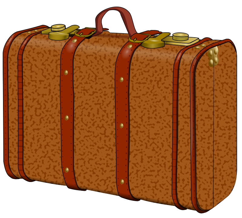 Free suitcase with stains