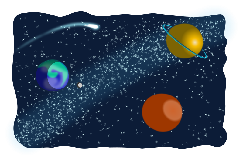 Free Clipart: Space Sketched