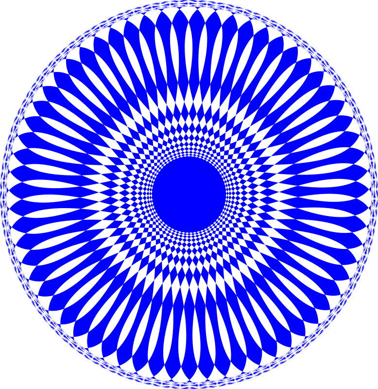 Free Blue hole abstract