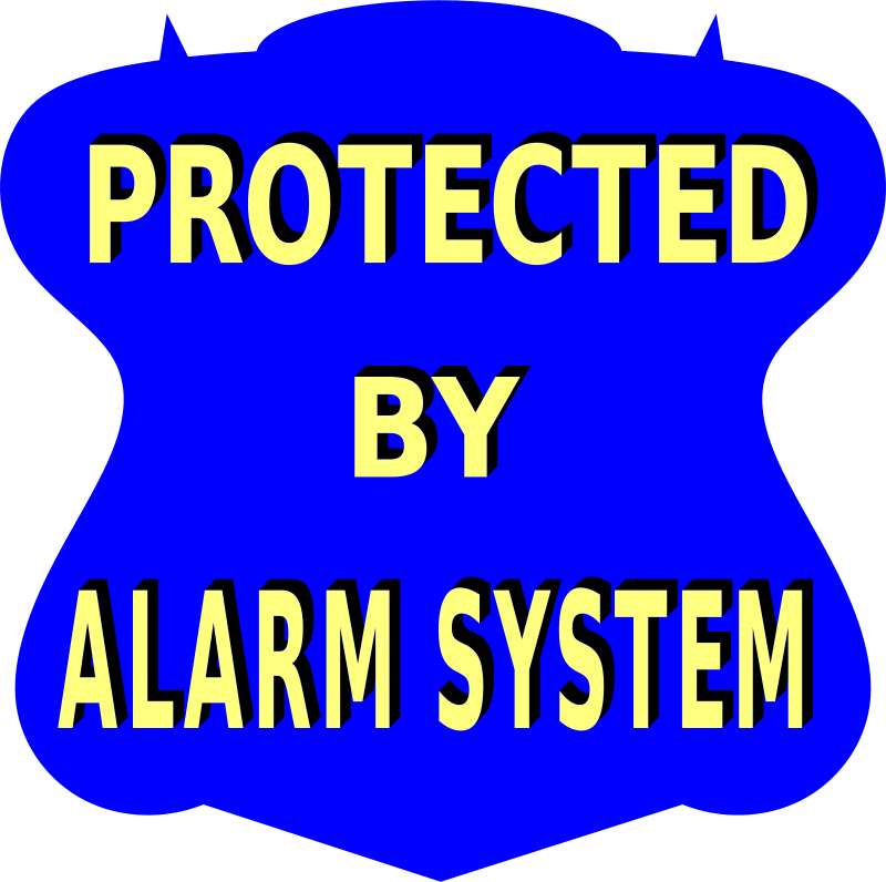 Free Protected by Alarm system sign 2