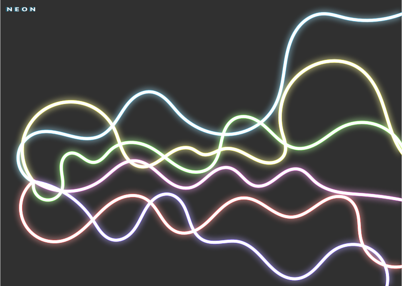 Free Neon Abstract Desgin