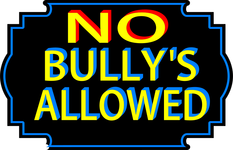 Free Clipart: No bullies allowed | bobby520