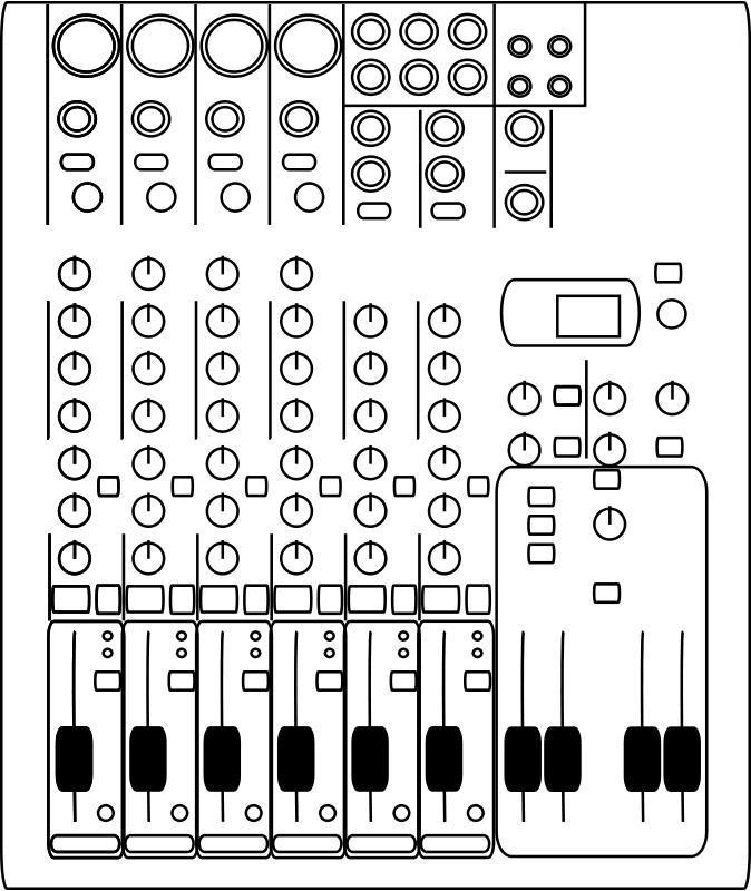 Free 8-Channel audio mixer