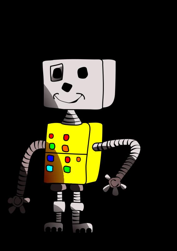 Free Childlike robot yellow