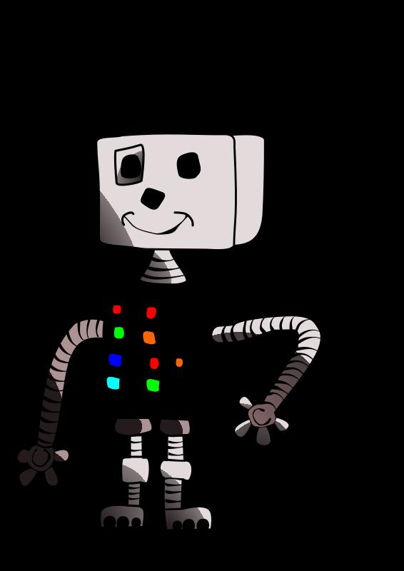 Free Childlike robot white