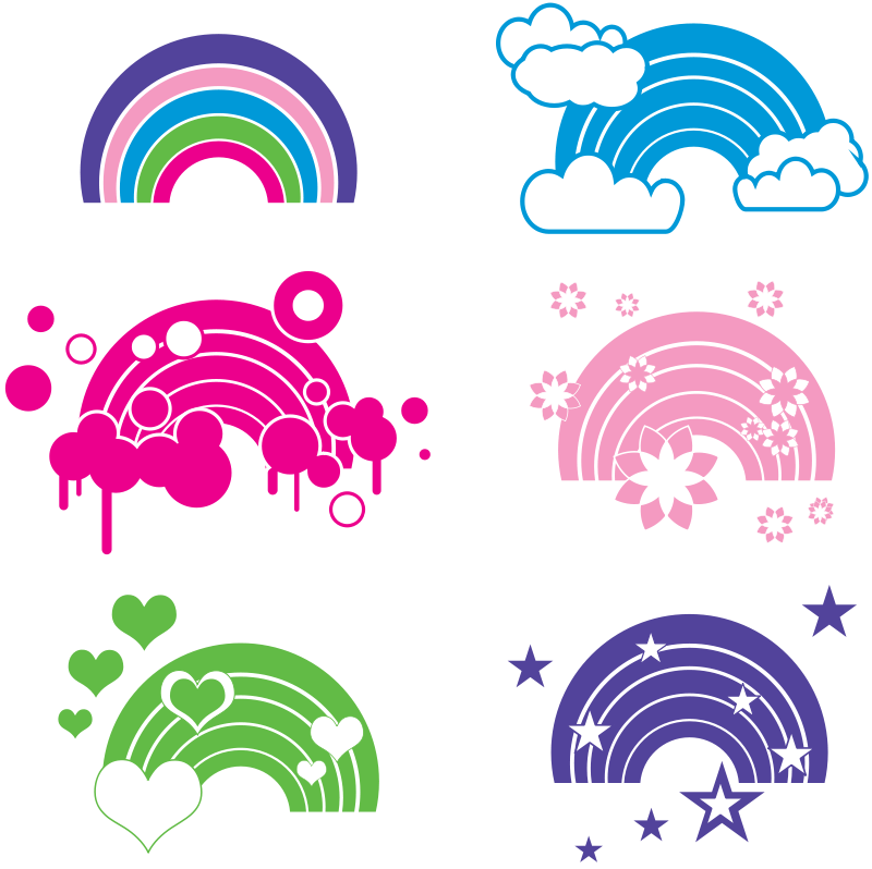 Free Clipart: Rainbow embellishments | enlivendesigns