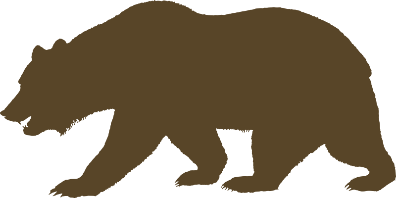 free clipart flag of california bear solid devincook rh 1001freedownloads com