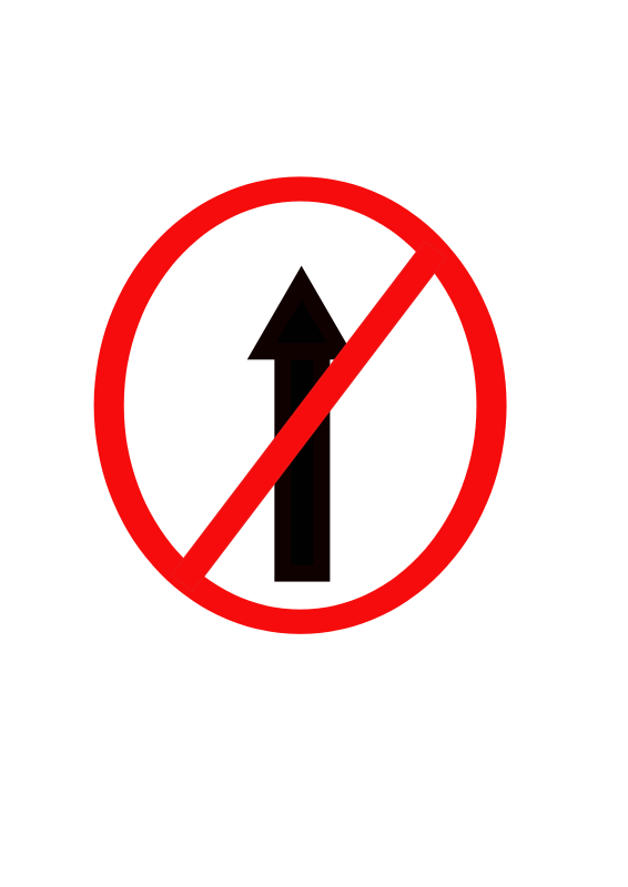 Free Indian road sign - No entry
