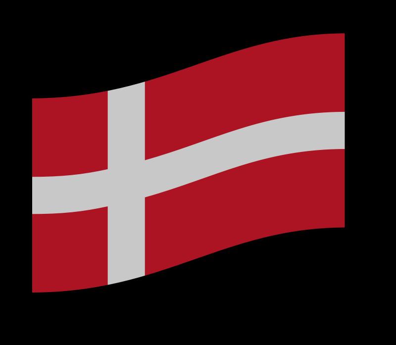 Free flag of Denmark