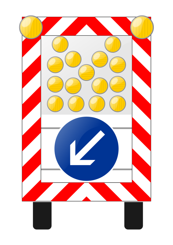 Free Roadworks lorry-sign