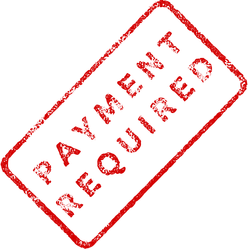 Free Payment Required Business Stamp 2