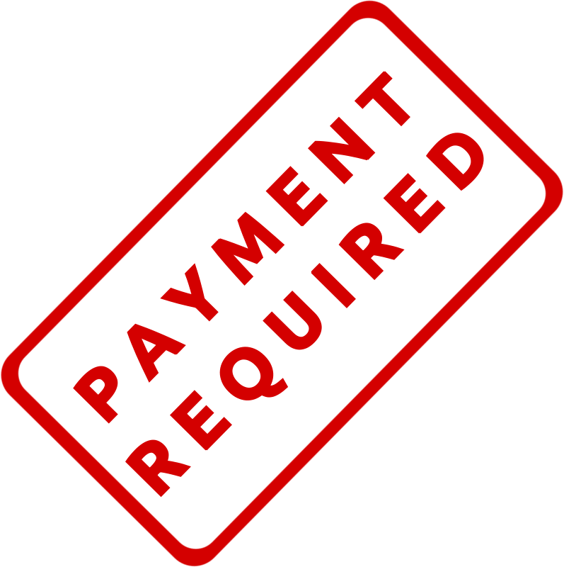 Free Payment Required Business Stamp 1