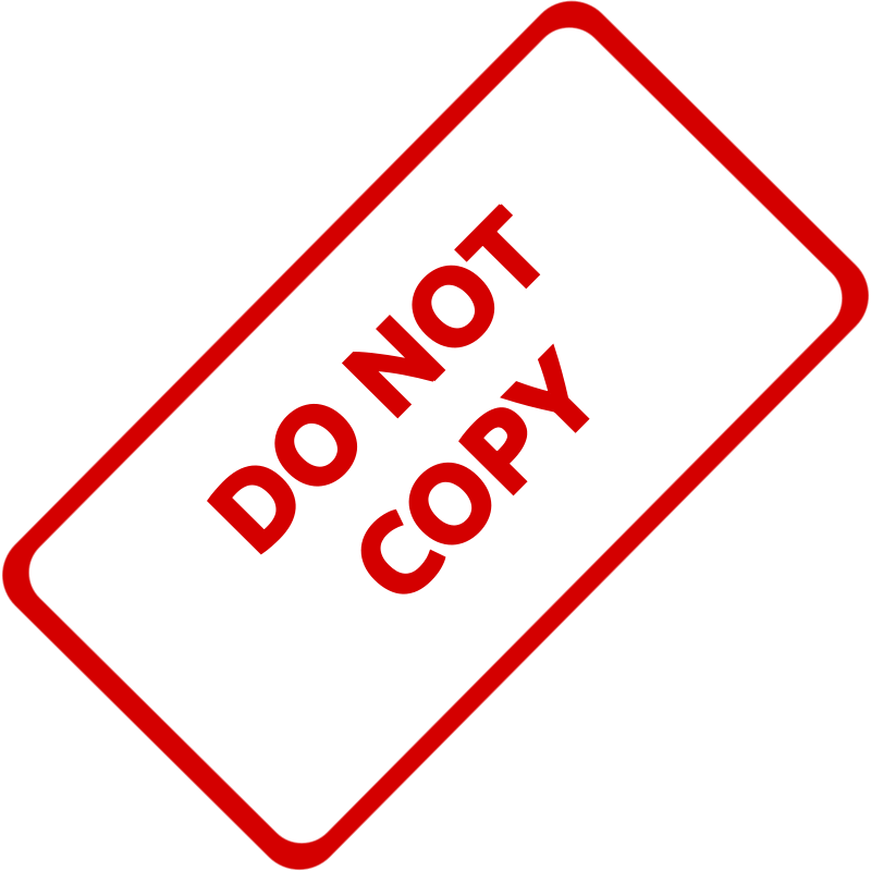 Free Do Not Copy Business Stamp 1