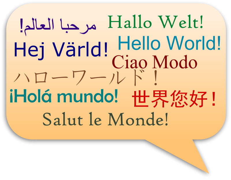 Free Clipart: Hello, World In Several Languages | JoBrad
