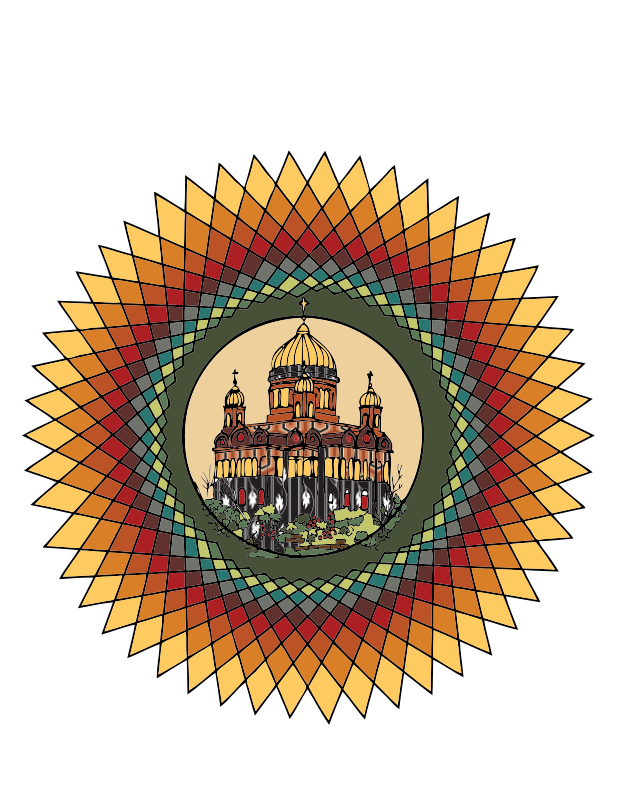 Free Mandala building in color